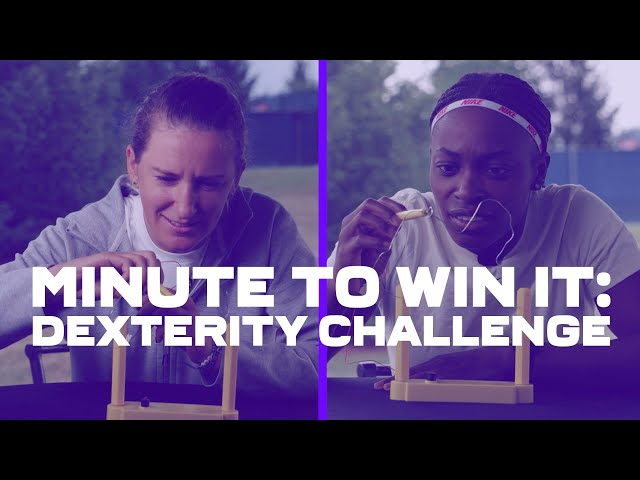 Minute to Win It ⚡️👀 WTA stars take on the Dexterity Challenge!