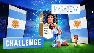 MARADONA CHALLENGE !! FIFA 18