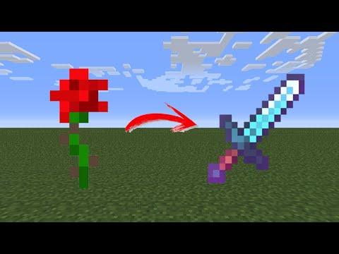 Minecraft pero las FLORES me dan ITEMS OP
