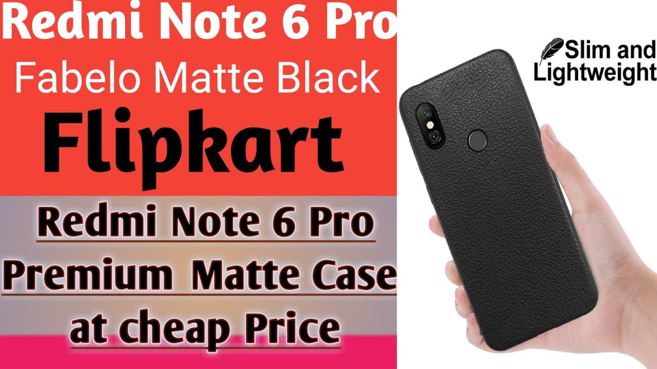 847ab3bf402 Redmi Note 6 Pro Premium Matte Black Case Cover - YouTube