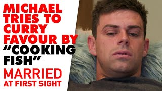 Michael tries to fix his relationship with Stacey by 'cooking' her dinner | MAFS 2020