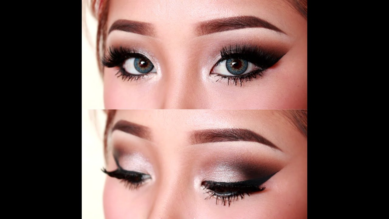 Sultry Silver Cutcrease Eye Makeup Tutorial - YouTube