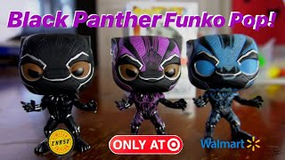 Black Panther Funko Pop Puple Glow In The Dark Target Exclusive T-Shirt Bundle