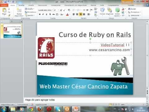 VideoTutorial 11 del Curso de Ruby on Rails