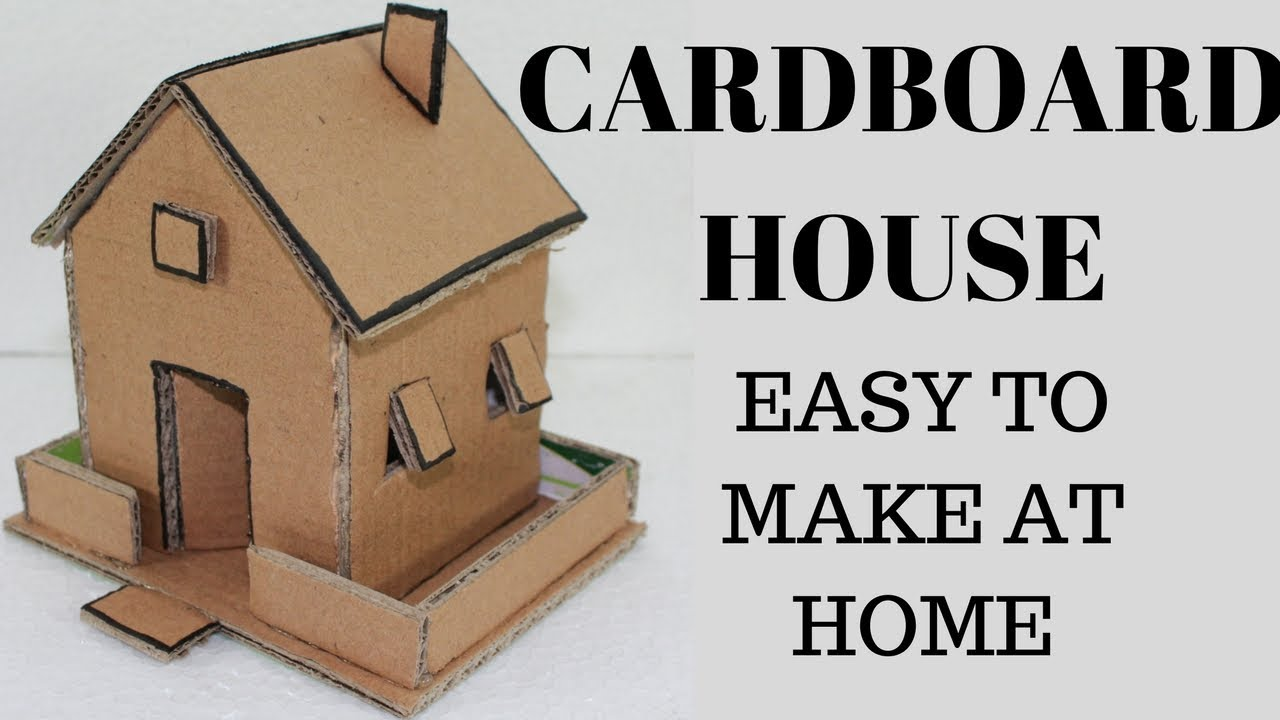 diy cardboard house how to make small cardboard house