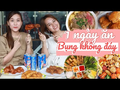 CẢ 1 NGÀY ăn theo phong cách BỤNG KHÔNG ĐÁY siêu khủng cùng Châu Giang nè!