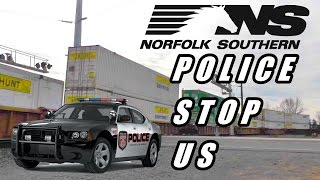 Norfolk Southern Police STOP Us and Talked to Train While Railfanning NS Police