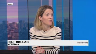 Comedian Julie Collas: 'French people love black humour'