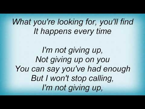 Amy Grant - Not Giving Up Lyrics
