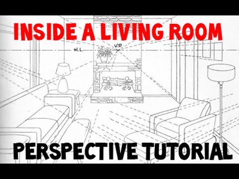 How To Draw A Room Using 3 Point Perspective   YouTube Part 92