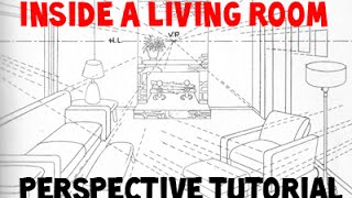 How to Draw a Room Using 3 Point Perspective