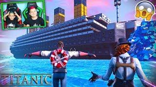 EL TITANIC EN FORTNITE!!! PINO Y ARES/ Modo Creativo