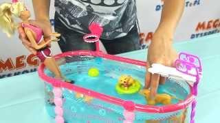 Barbie Puppy Swim School Pool / Barbie i Basen Pływających Szczeniaczków - Barbie - Mattel