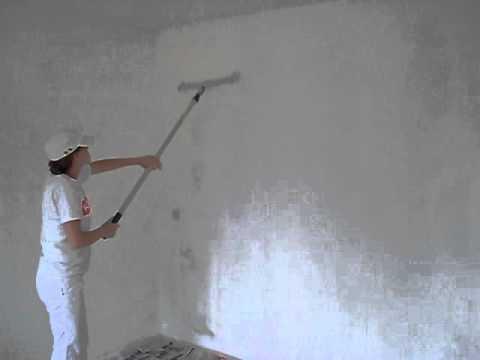 Eerste keer voorstrijken muur youtube for Behangklaar