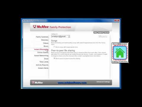 McAfee Family Protection 2011