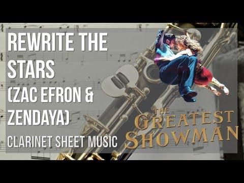 EASY Clarinet Sheet Music: How to play Rewrite the Stars by Zac Efron & Zendaya