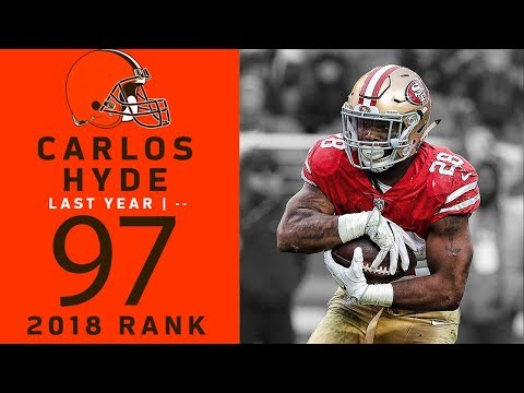#97: Carlos Hyde (RB, Browns) | Top 100 Players of 2018 | NFL