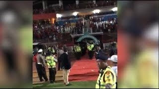 Stones and bottles thrown at Malaysian football team in Indonesia