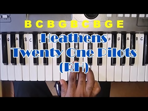 Twenty One Pilots Heathens Easy Piano Tutorial - Right Hand - How To Play