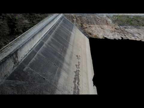 Dam rock wall drone survey