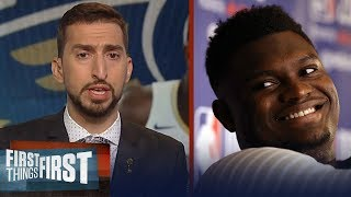 Zion Williamson is the best NBA prospect since LeBron James - Nick Wright | NBA | FIRST THINGS FIRST