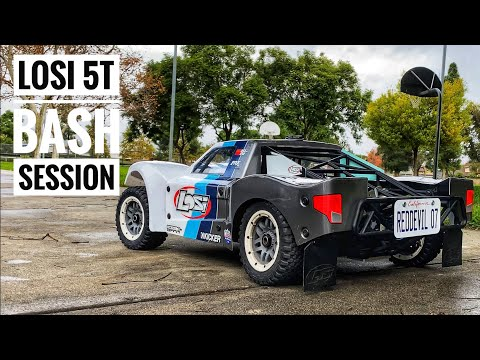 LOSI 5IVE-T 2.0 BASH Session - Off-roading 4 Wheel Drive RC Truck — Smith RC Studios