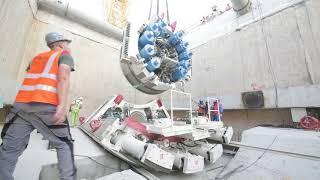 Tunnel drilling work on Dubai Metro's Route 2020