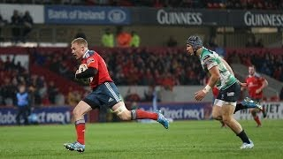 Controversial Keith Earls Try - Munster v Benetton Treviso 22nd March 2014