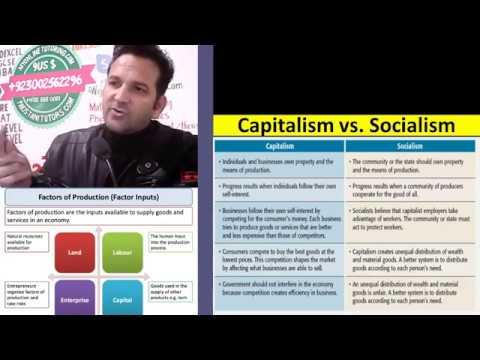 What is Capitalism in Urdu / Hindi, What is Socialism in Urdu / Hindi, Socialism vs Capitalism