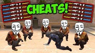 TEAM CHEATERÓW VS TEAM CHEATERÓW (CS:GO FUNNY MOMENTS OVERWATCH)