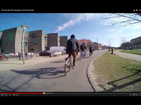 The Green Bike Path, Copenhagen | HD GoPro Bike Ride