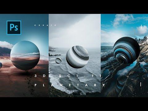 Cara Manipulasi Foto 3D Sci-Fi Planetary dg photoshop - Photoshop Tutorial Indonesia