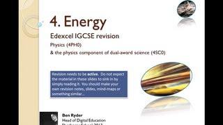 Energy REVISION PODCAST (Edexcel IGCSE physics topic 4)