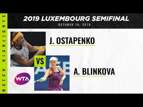 Jelena Ostapenko vs. Anna Blinkova| 2019 Luxembourg Open Semifinal | WTA Highlights