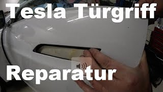 Türgriff Reparatur an einem 560.000 Kilometer Tesla