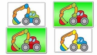 Interactive Learning Games For Kids Excavators: Build & Play Monster Trucks (Дети Truck игры)