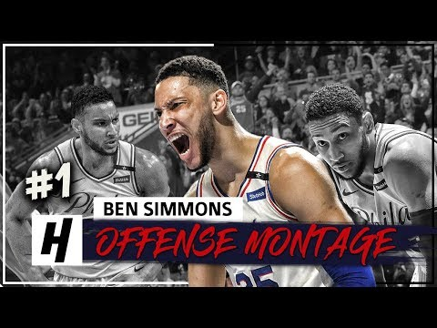 Ben Simmons Full Offense Highlights 2017-2018 Season (Part 1) - ROOKIE OF THE YEAR!