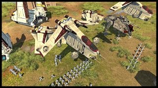 501st Clone Legion Invasion - Battle of Naboo | Men of War Assault Squad 2 Star Wars Mod Gameplay