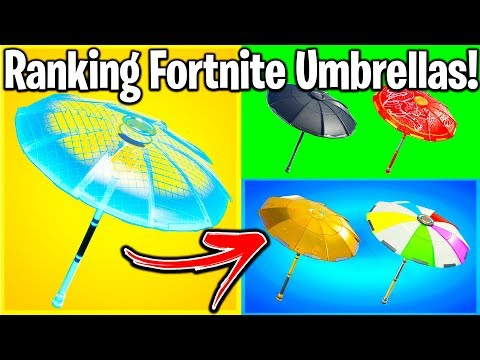 RANKING EVERY WINNERS UMBRELLA IN FORTNITE FROM WORST TO BEST!