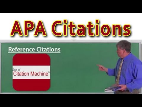 APA Citations & MLA Citations in an Instant: Son of Citation Machine