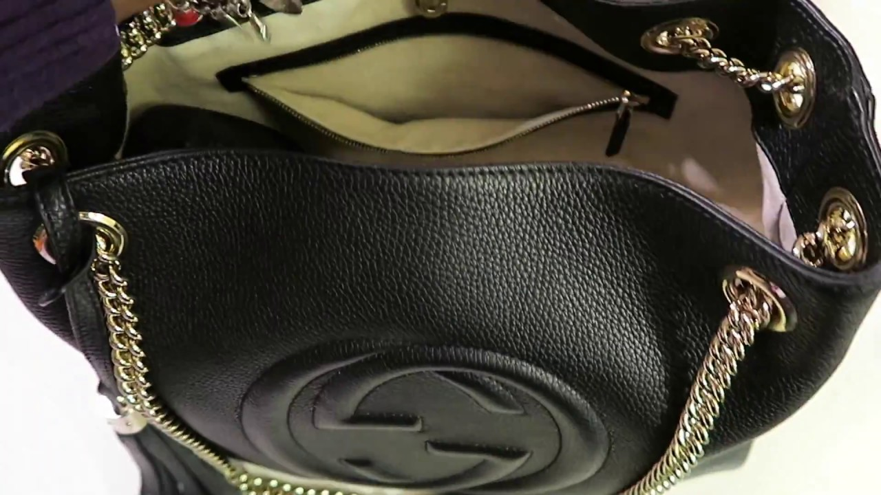 7cd04547cd1 GUCCI SOHO LEATHER SHOULDER BAG UNBOXING - YouTube