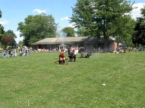 War of 1812 Unit Tactical Demonstration--Fort Malden National Historic Site of Canada
