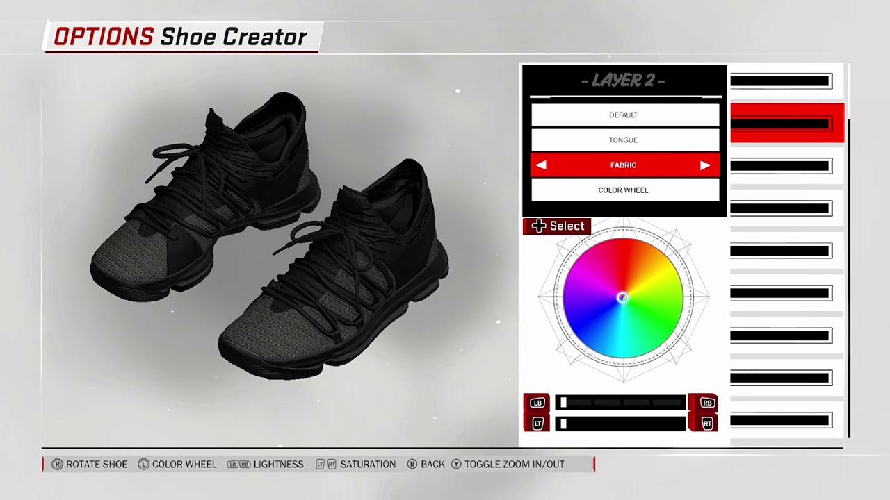 NBA 2K18 Shoe Creator - Nike KD 10