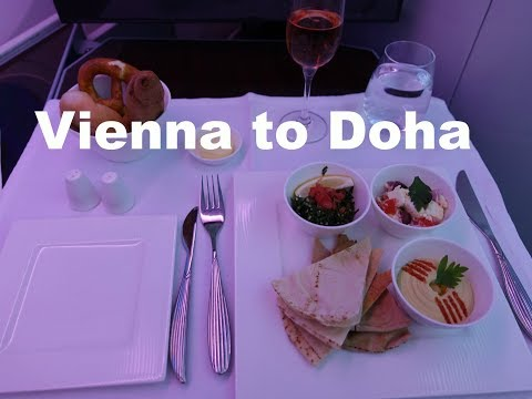 Qatar Airways 787 Business Class Vienna to Doha