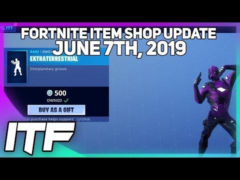 Fortnite Item Shop *NEW* EXTRATERRESTRIAL EMOTE! [June 7th, 2019] (Fortnite Battle Royale)
