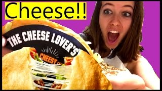 """Taco Bell """"Cheese in a Shell"""" Quesalupa TASTING REVIEW!! Video"""