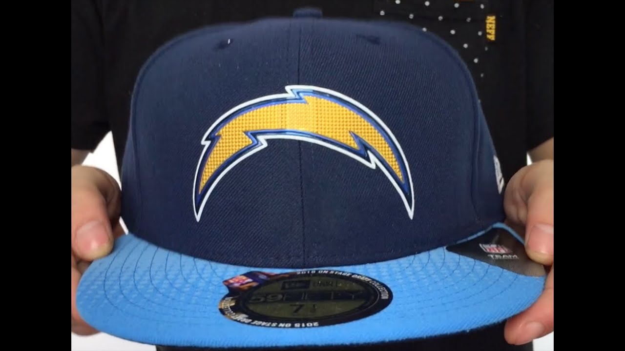 a361b2f425a Chargers  2015 NFL DRAFT  Navy-Blue Fitted Hat by New Era - YouTube