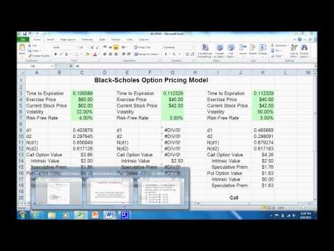 binary option pricing modelformula