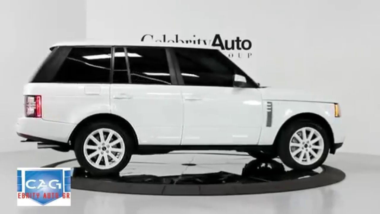 land rover range rover supercharged white black 2012 youtube. Black Bedroom Furniture Sets. Home Design Ideas