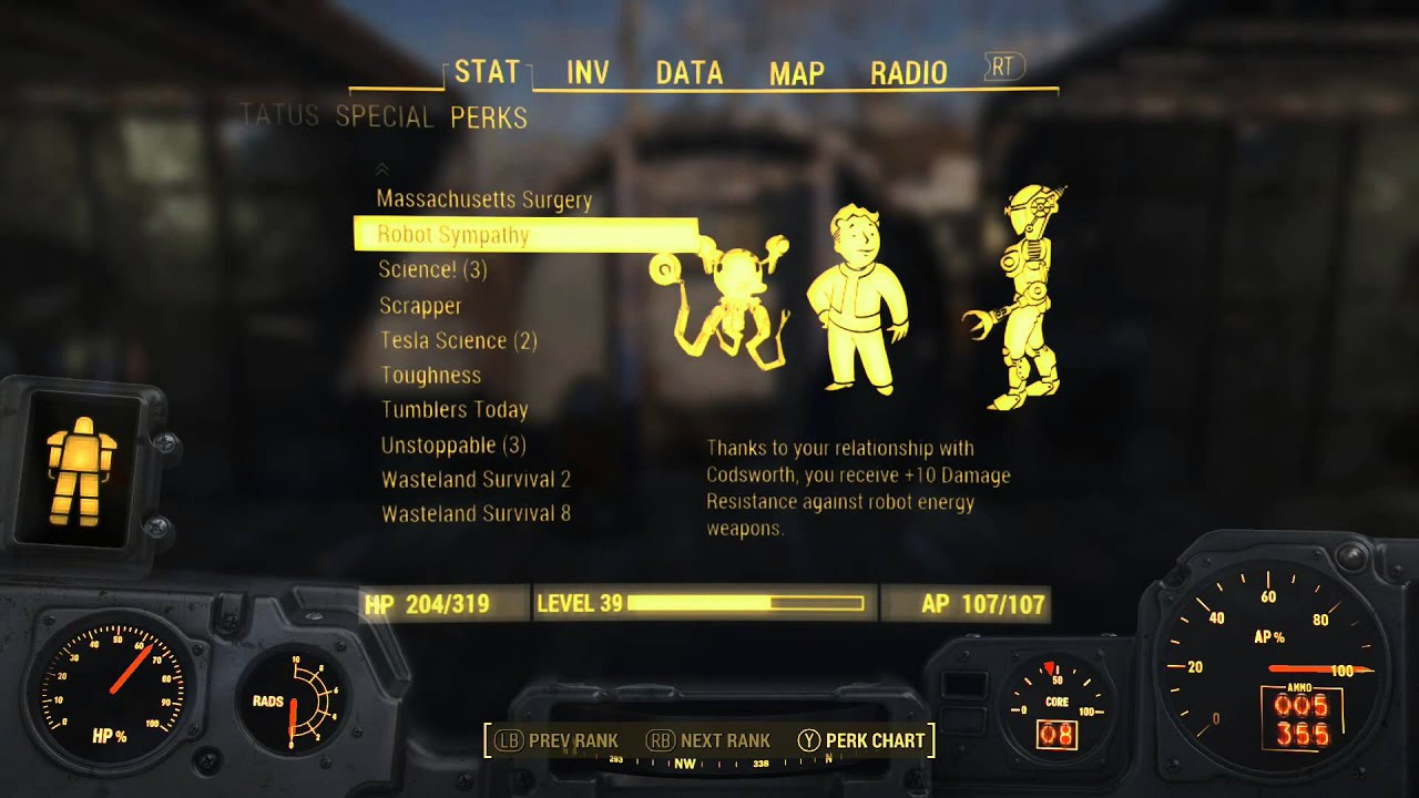 fallout 4 how to give more perk level